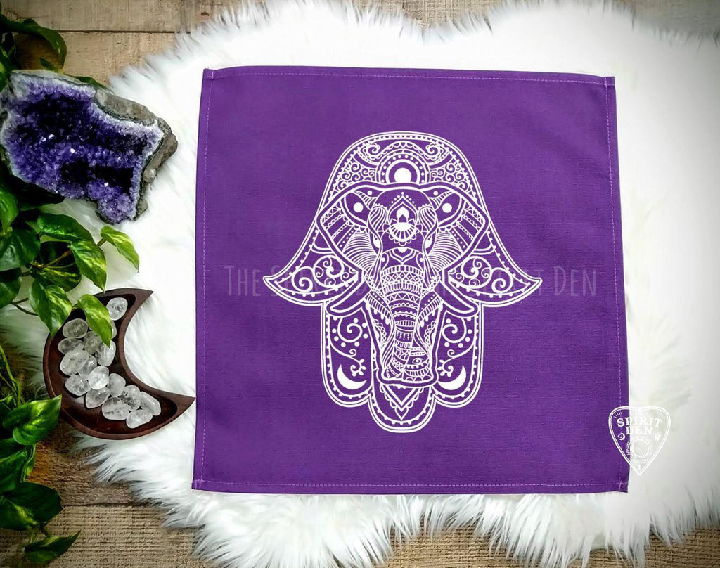 Hamsa Purple Altar/Tarot Cloth