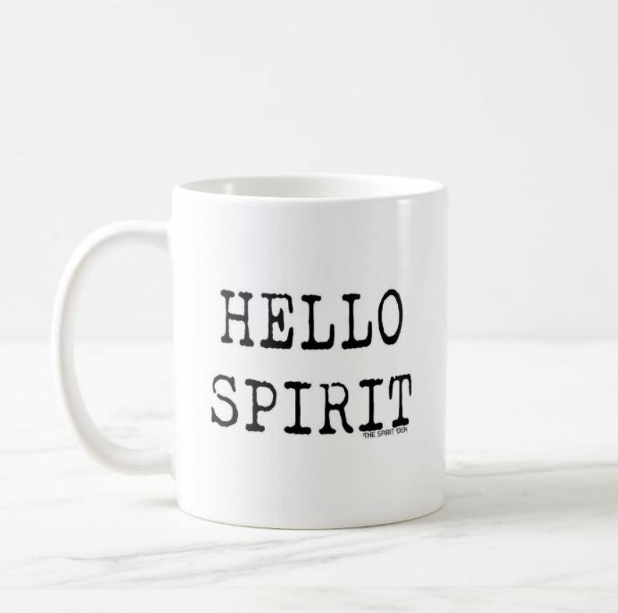 Hello Spirit White Mug