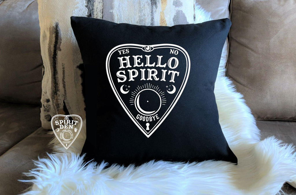 Planchette Hello Spirit Black Pillow