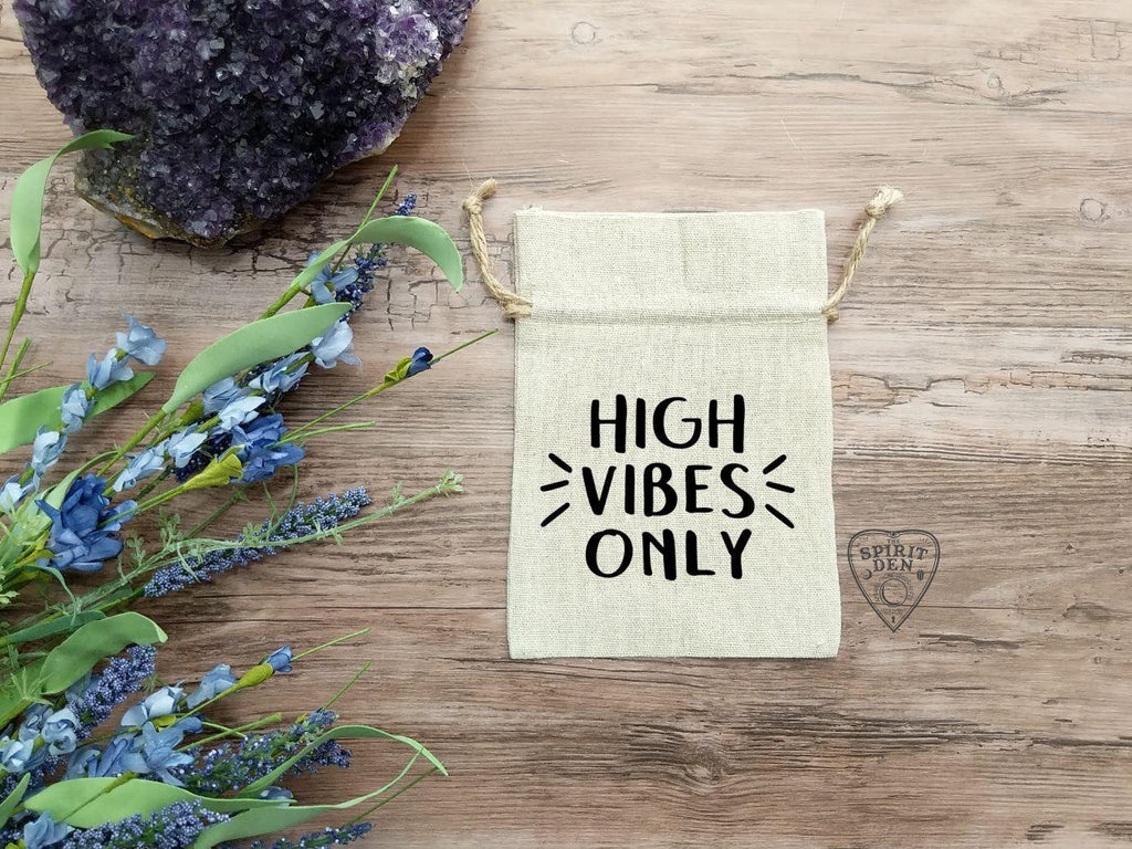 High Vibes Only Cotton Linen Deck Bag