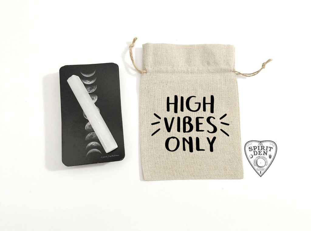 High Vibes Only Cotton Linen Deck Bag - The Spirit Den