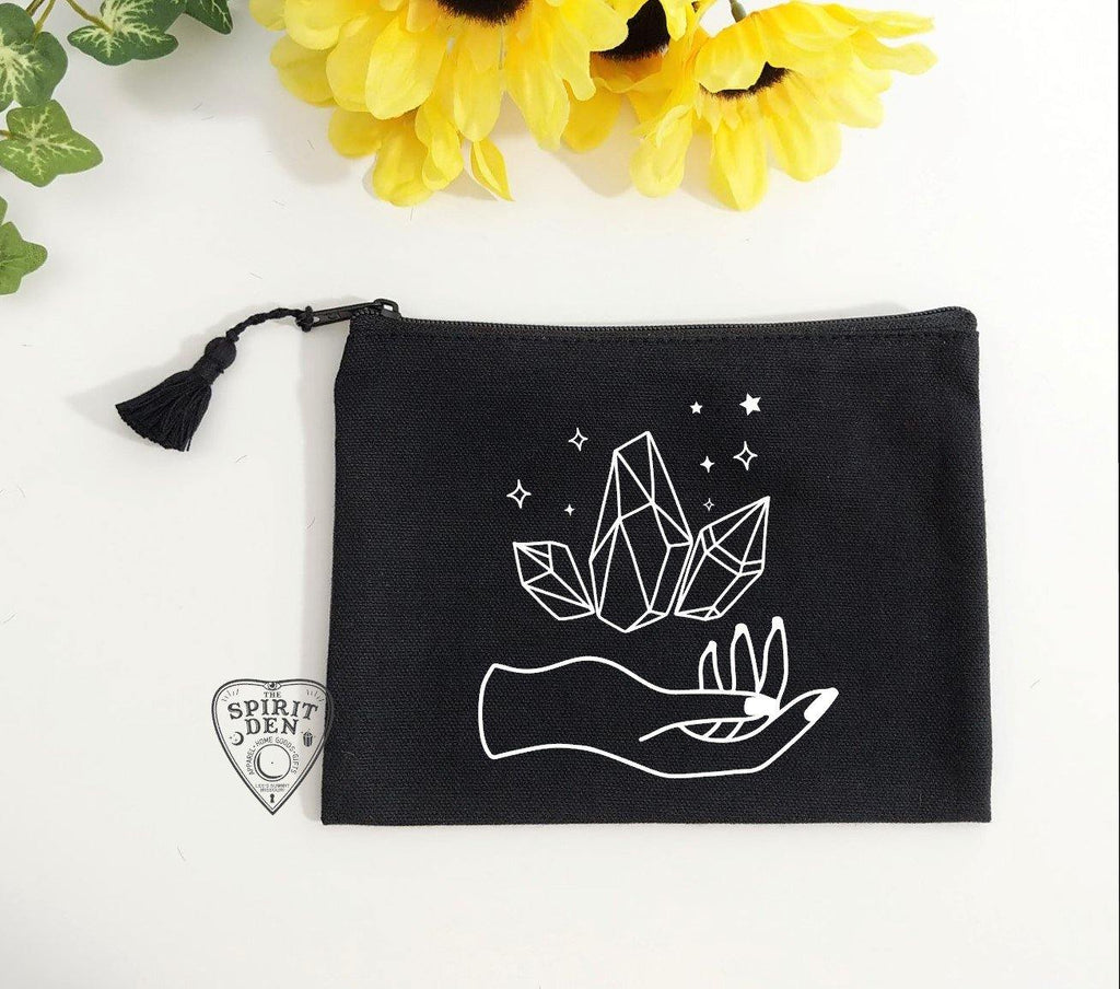 Holding Magic Black Canvas Zipper Bag