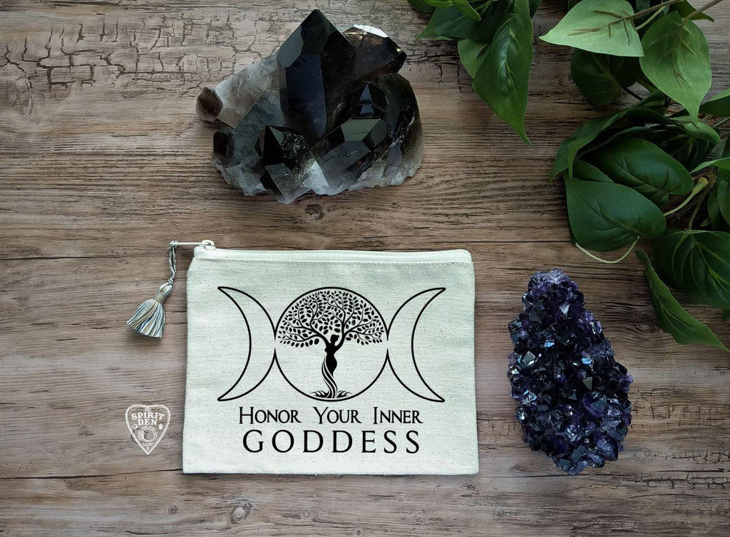 Honor Your Inner Goddess Canvas Zipper Bag