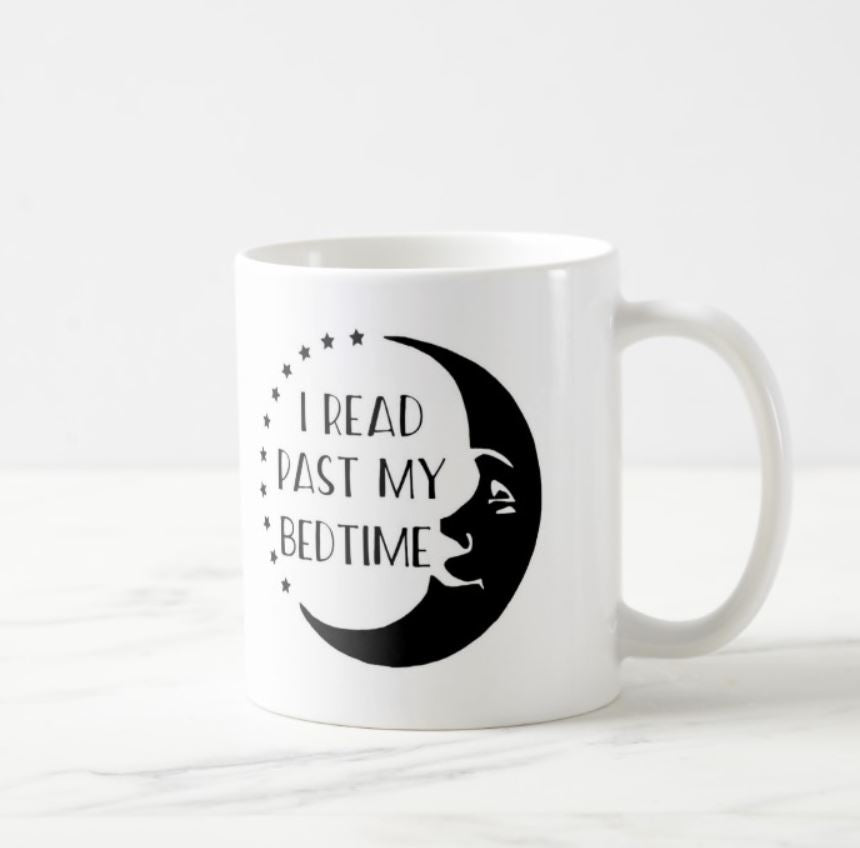 I Read Past My Bedtime Moon White Mug