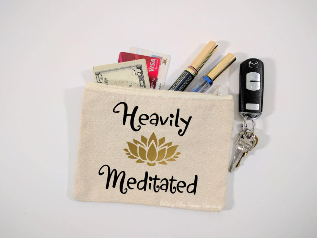 Heavily Meditated Canvas Zipper Bag