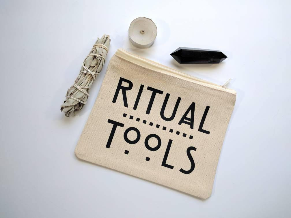Ritual Tools Canvas Zipper Bag
