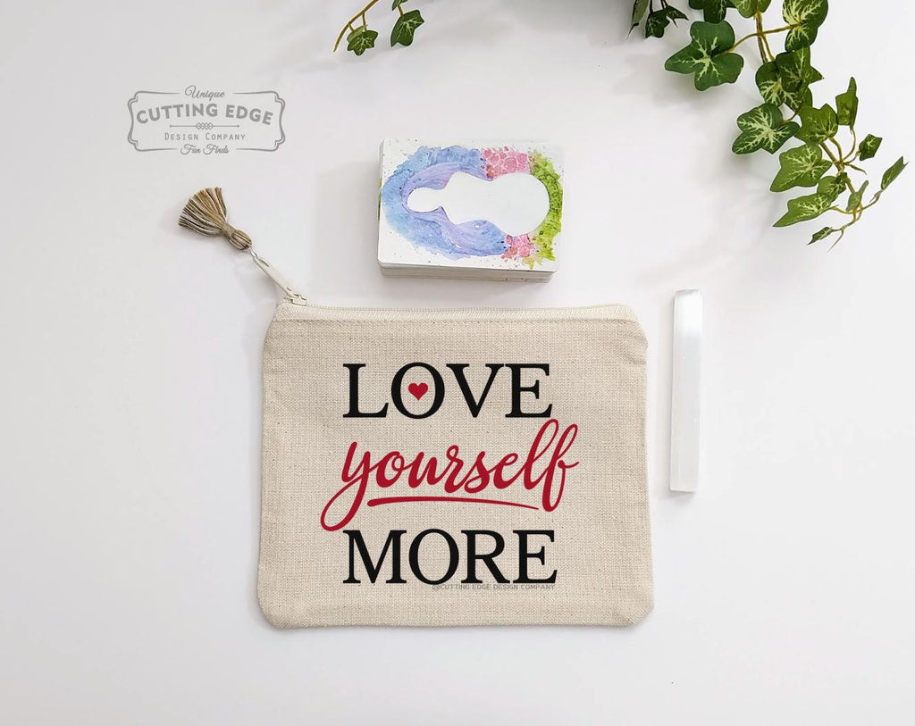 Love Yourself More Canvas Zipper Bag