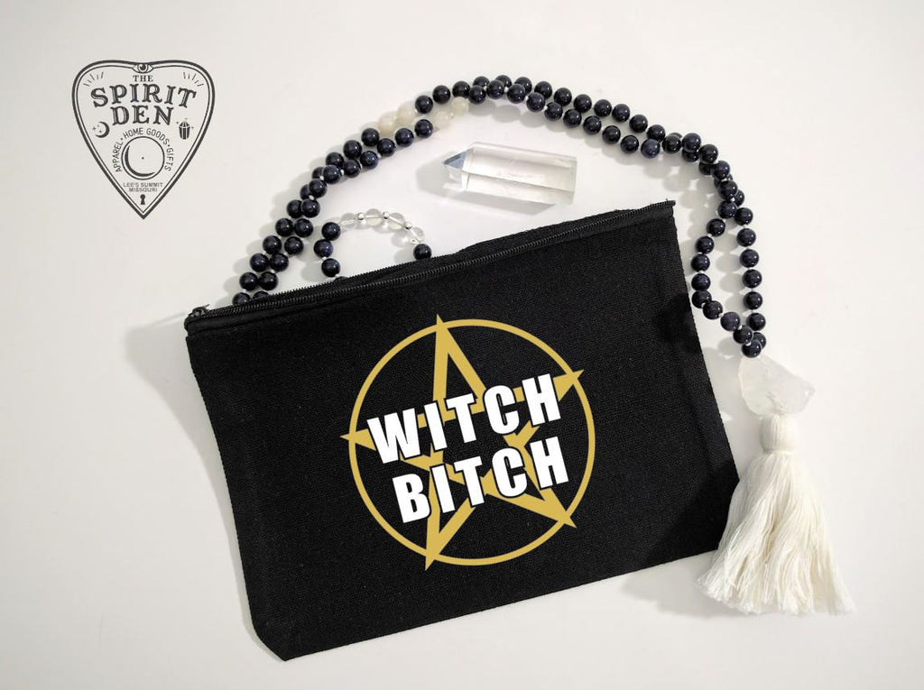 Witch Bitch Pentacle Canvas Zipper Bag