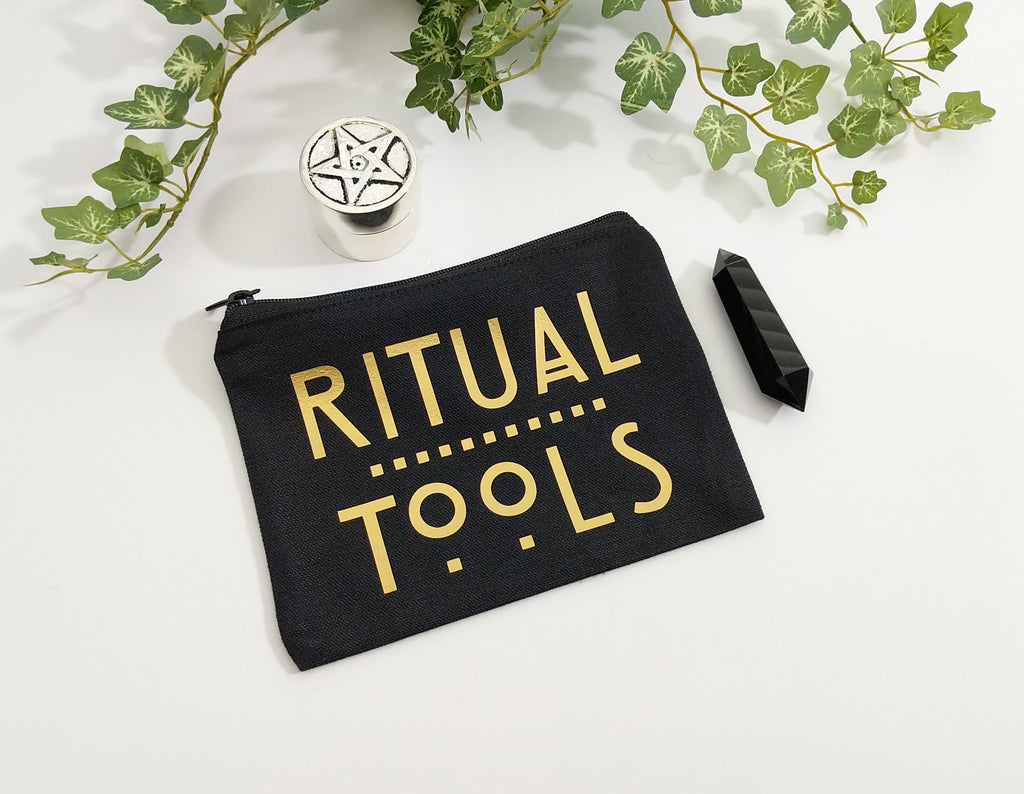 Ritual Tools Black Canvas Zipper Bag