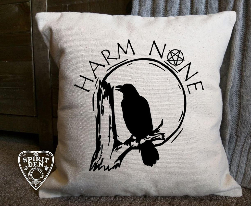 Harm None Cotton Canvas Pillow