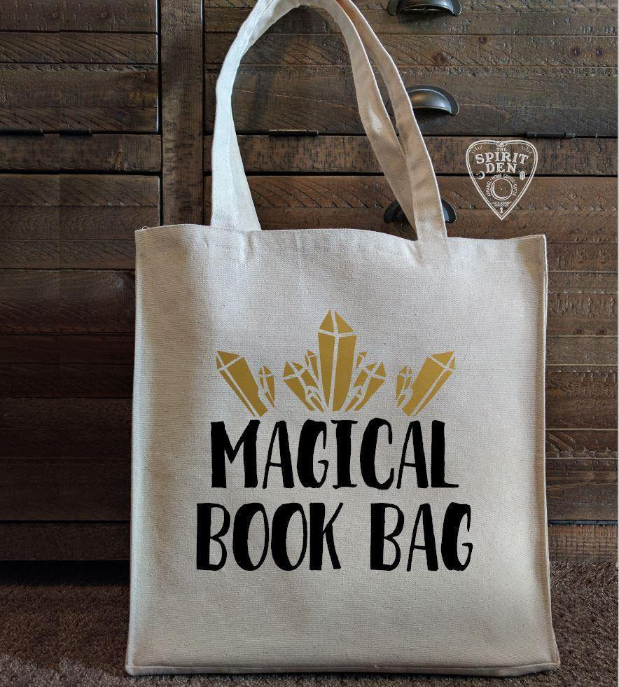 Magical Book Bag Cotton Canvas Market Tote  Bag - The Spirit Den
