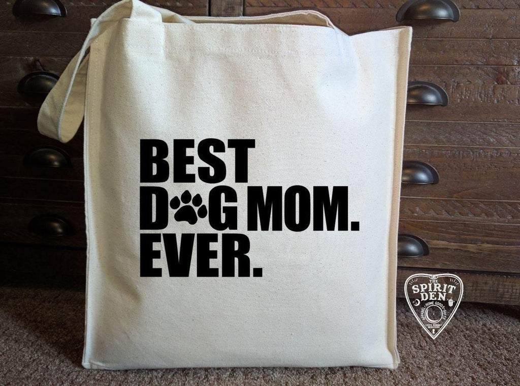 Best Dog Mom Ever Cotton Canvas Market Tote Bag
