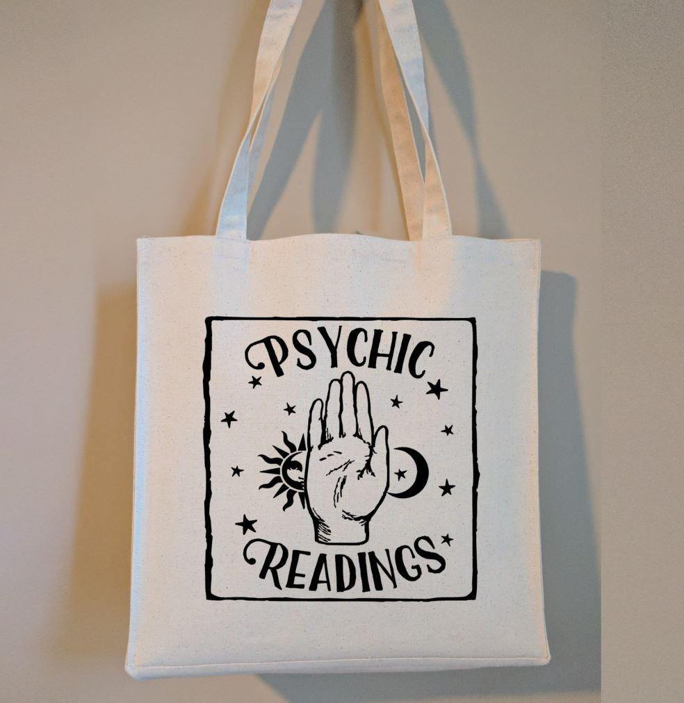 Psychic Readings Cotton Canvas Market Tote Bag