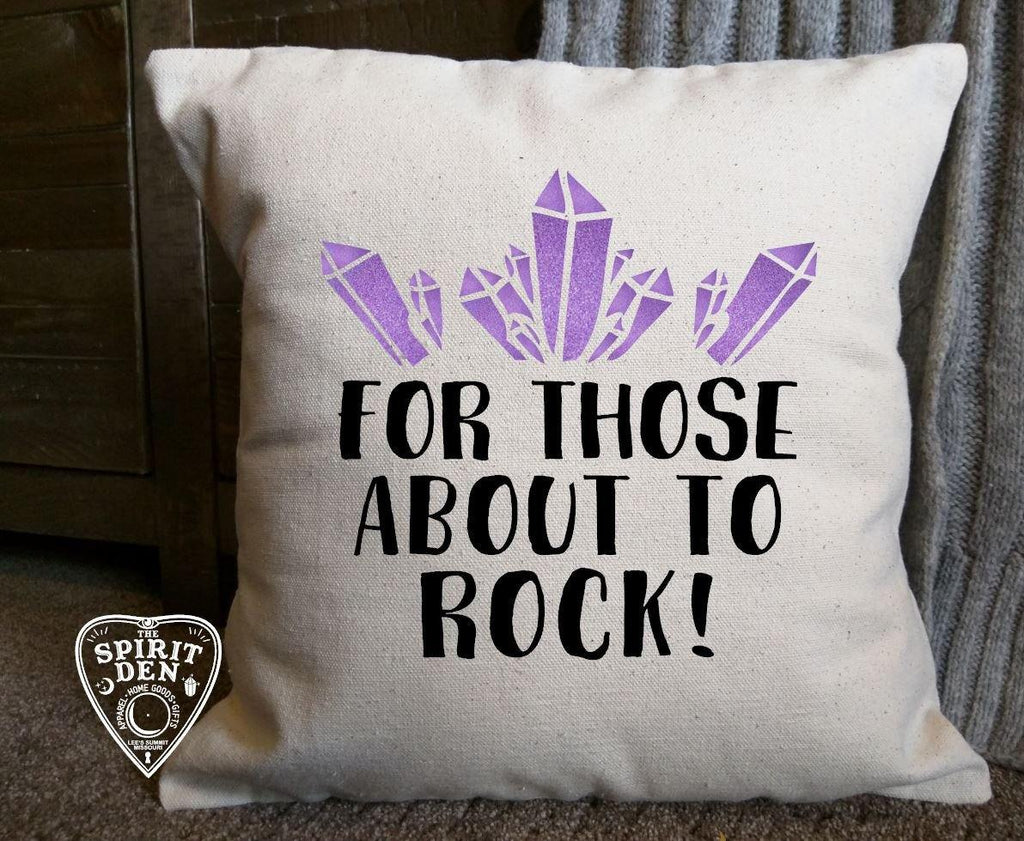 For Those About To Rock Crystal Cotton Pillow