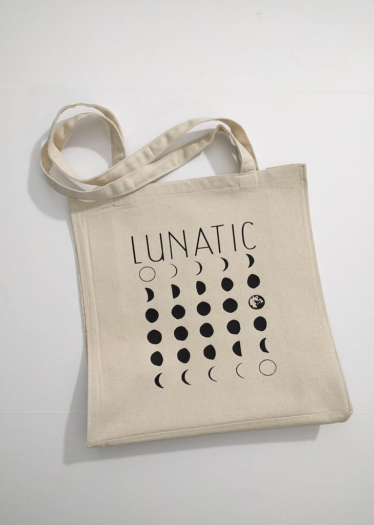 Lunatic Moon Phases Canvas Market Tote Bag