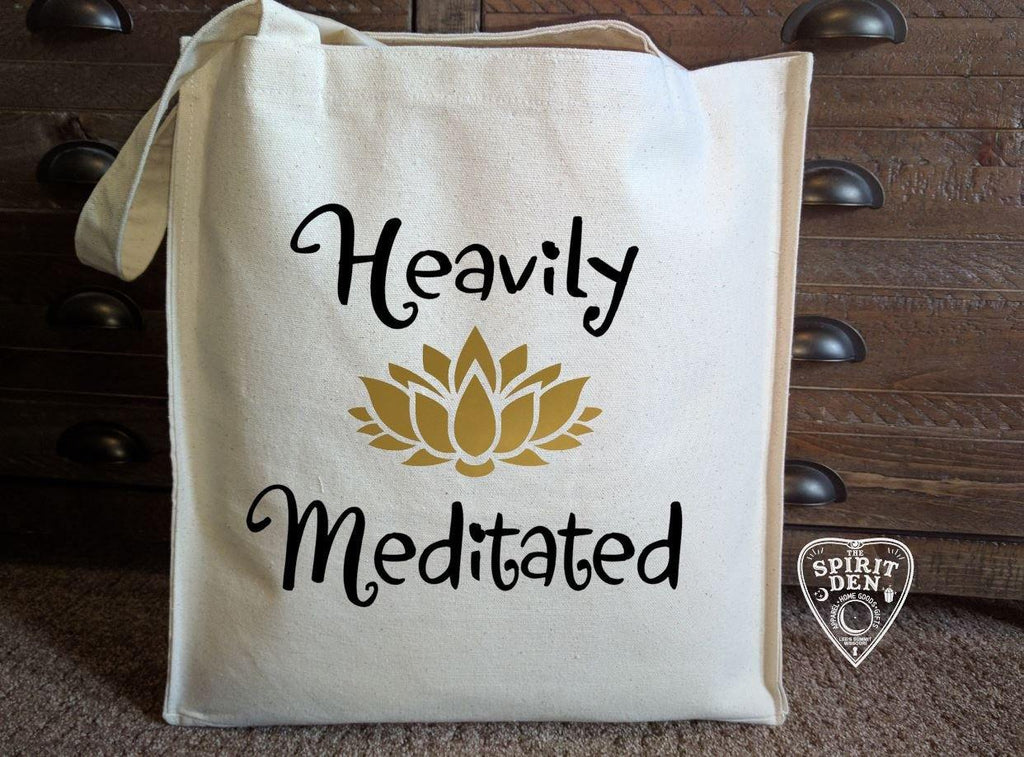 Heavily Meditated Cotton Canvas Market Bag - The Spirit Den