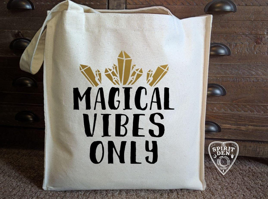 Magical Vibes Only Cotton Canvas Market Bag