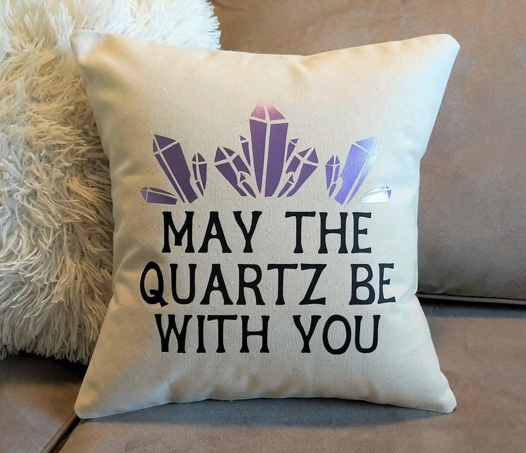May The Quartz Be With You Cotton Canvas Pillow