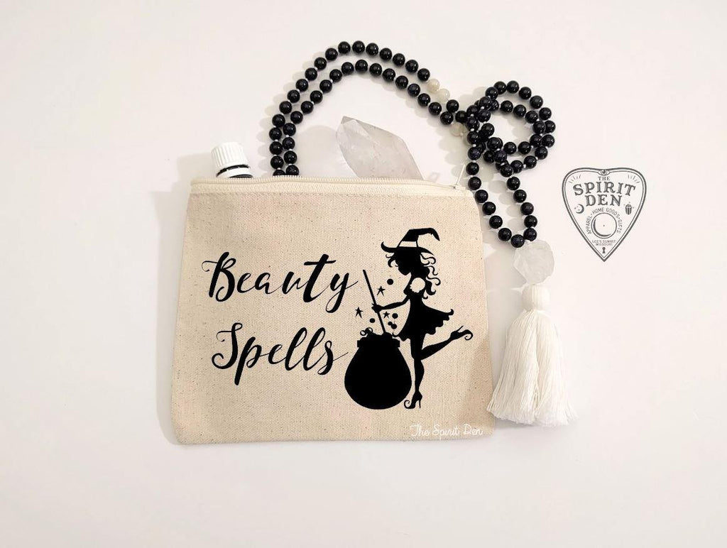 Beauty Spells Witch Canvas Zipper Bag