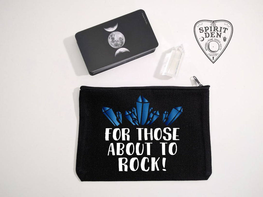 For Those About To Rock Black Canvas Zipper Bag