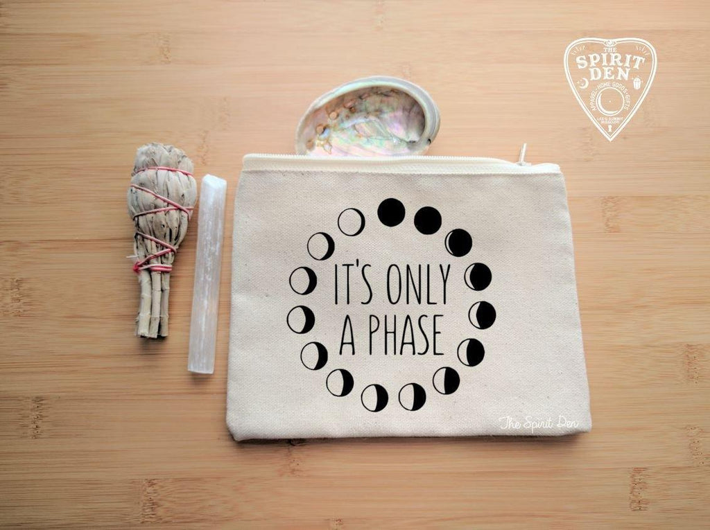 It's Only A Phase Moons Canvas Zipper Bag