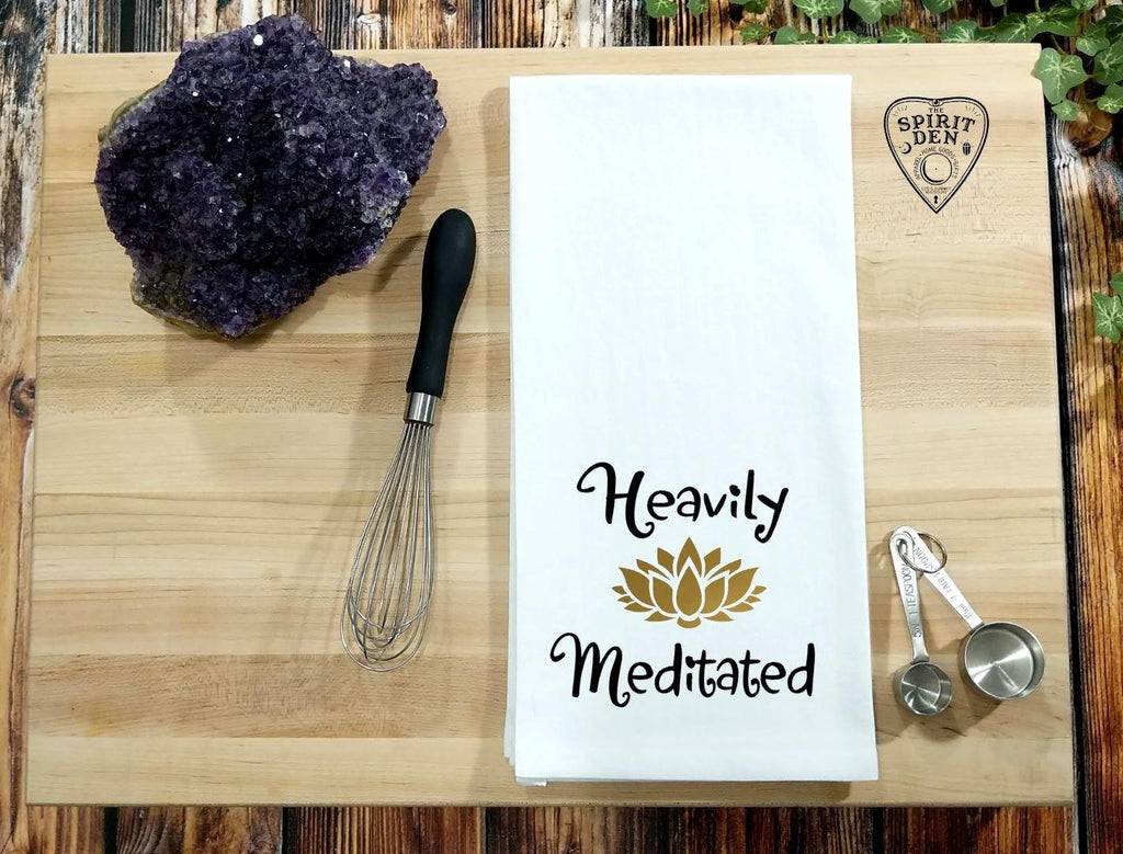Heavily Meditated Flour Sack Towel
