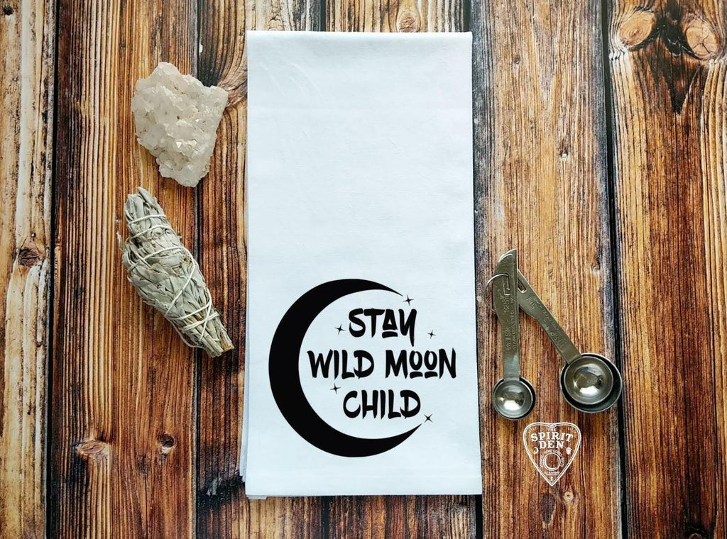 Stay Wild Moon Child Flour Sack Towel