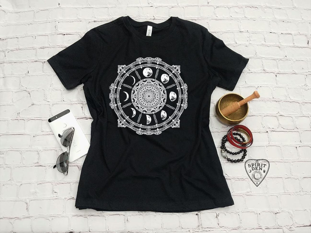 Moon Phases Compass T-Shirt