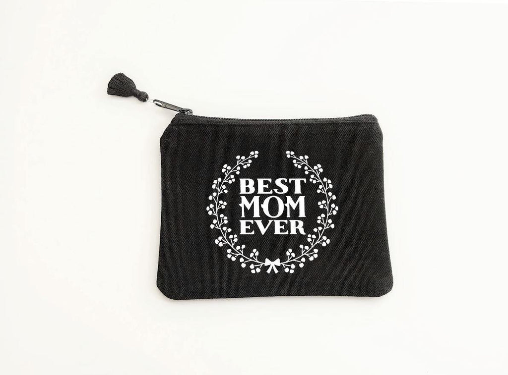 Best Mom Ever Black Zipper Bag