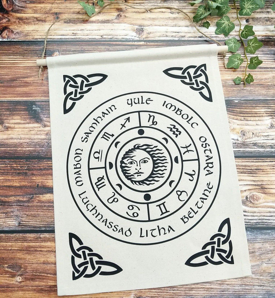 Wheel of the Year Canvas Wall Banner