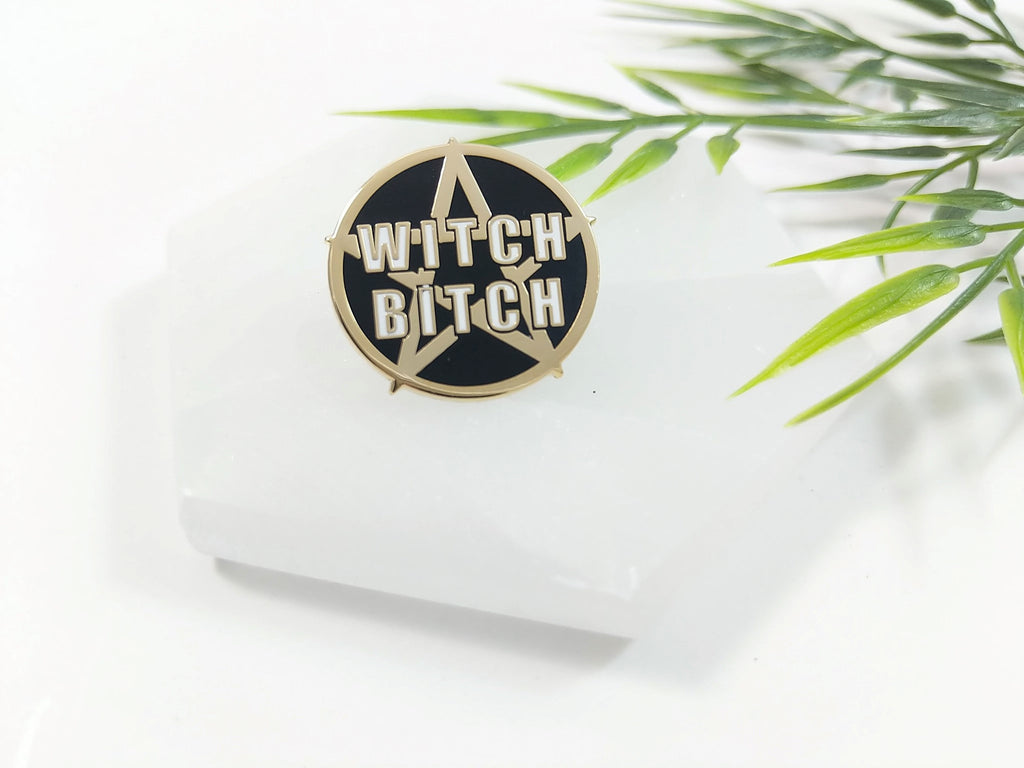 Witch Bitch Pentacle Enamel Pin