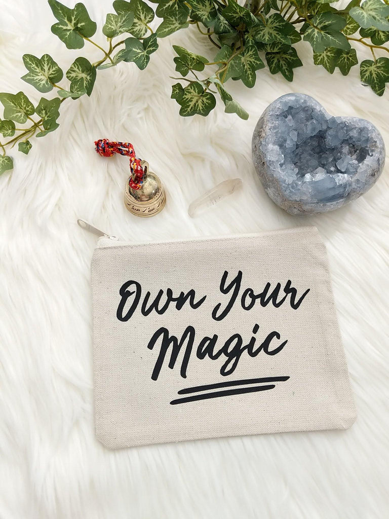 Own Your Magic Canvas Zipper Bag