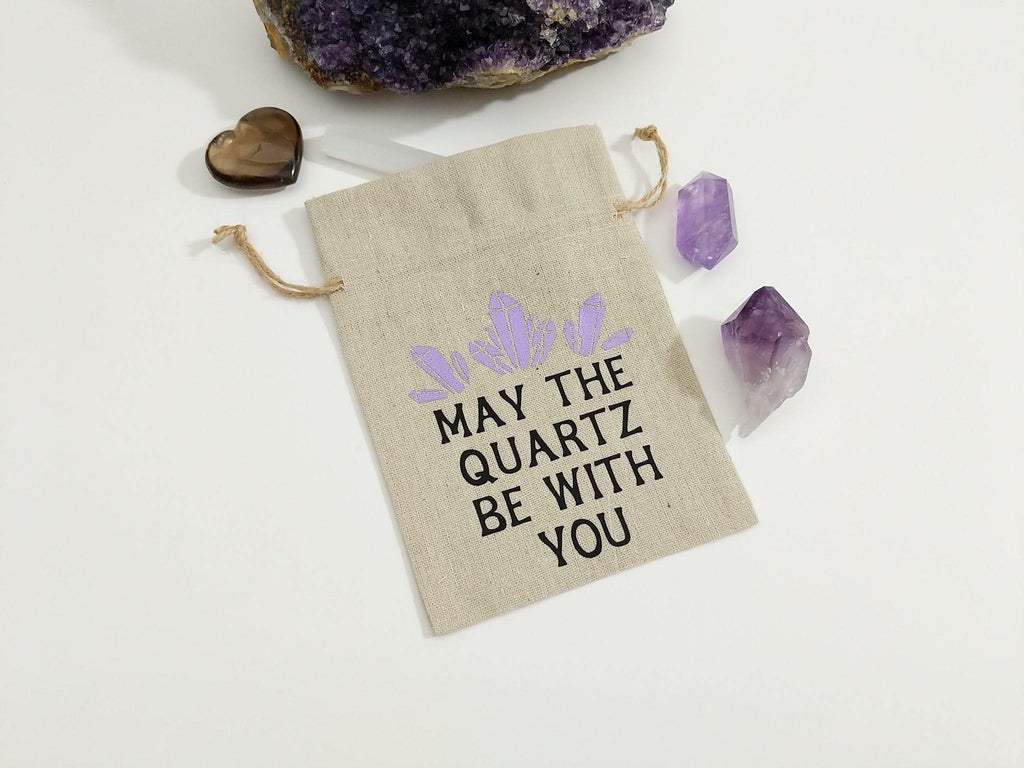 May The Quartz Be With You Linen Deck Bag