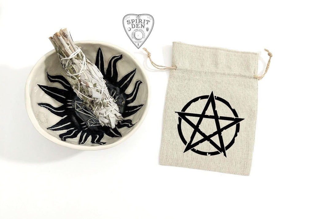 Pentacle Linen Bag
