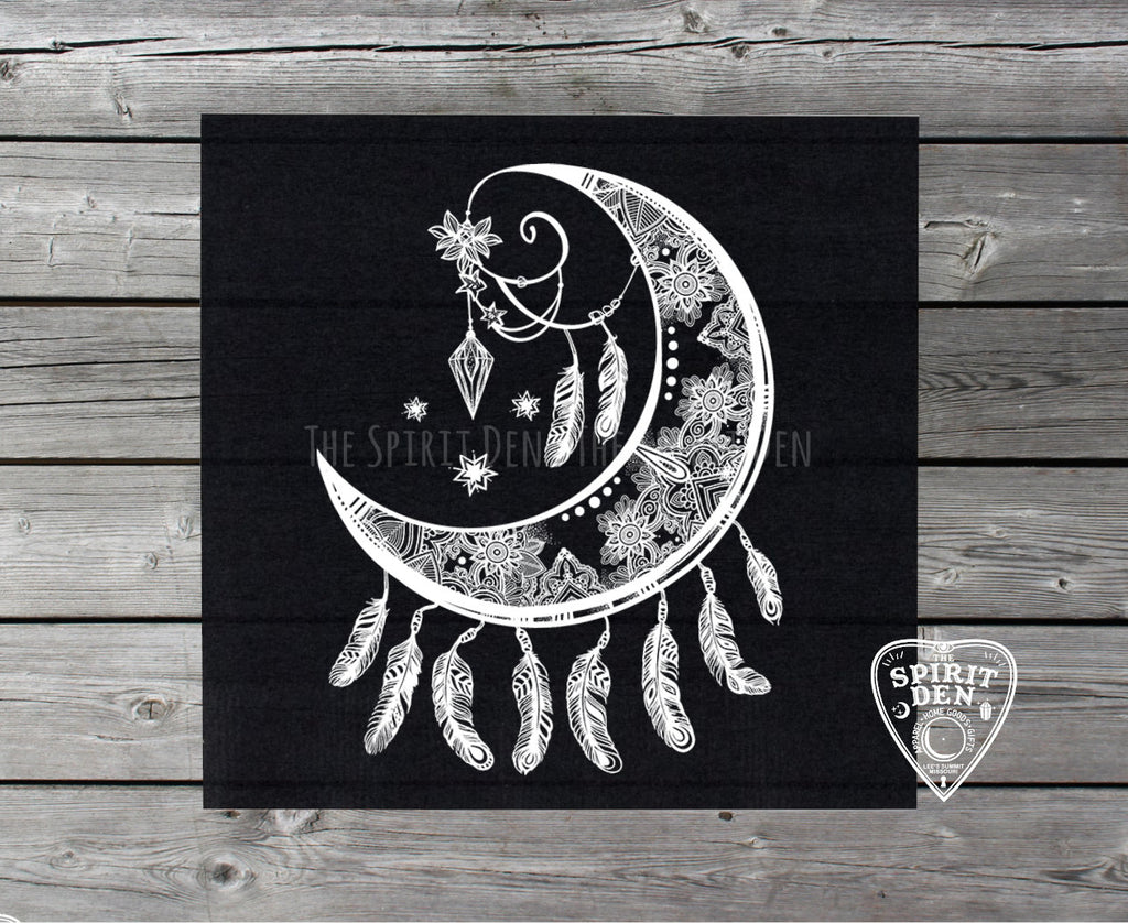 Crescent Moon Catcher Altar Cloth