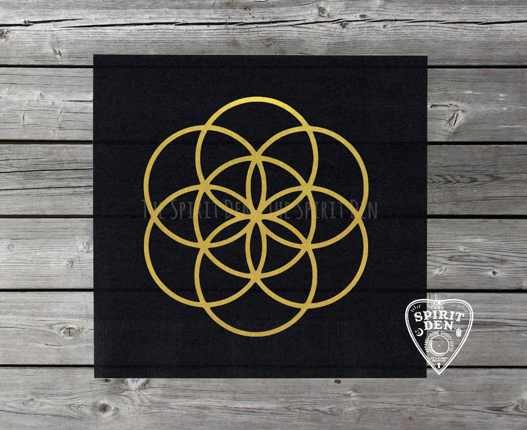 Seed of Life Crystal Grid Altar Cloth