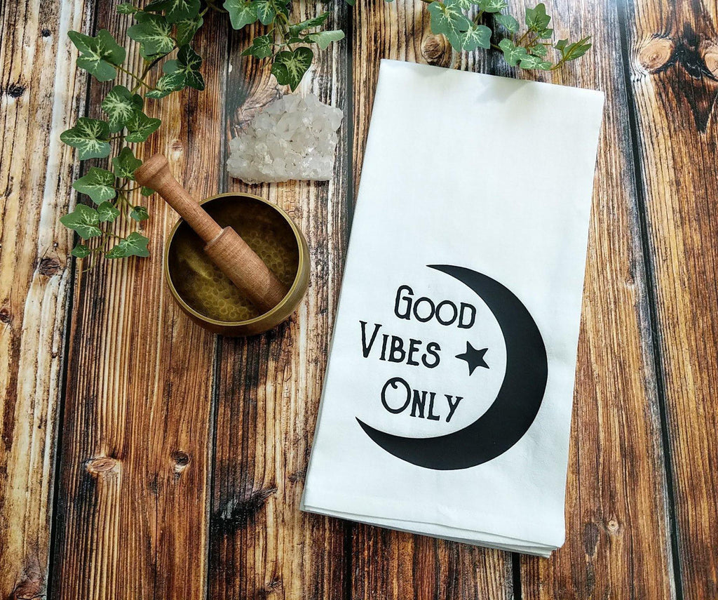 Good Vibes Only Flour Sack Towel