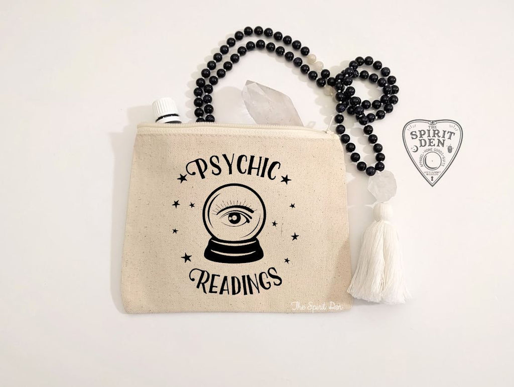 Psychic Readings Crystal Ball Canvas Zipper Bag