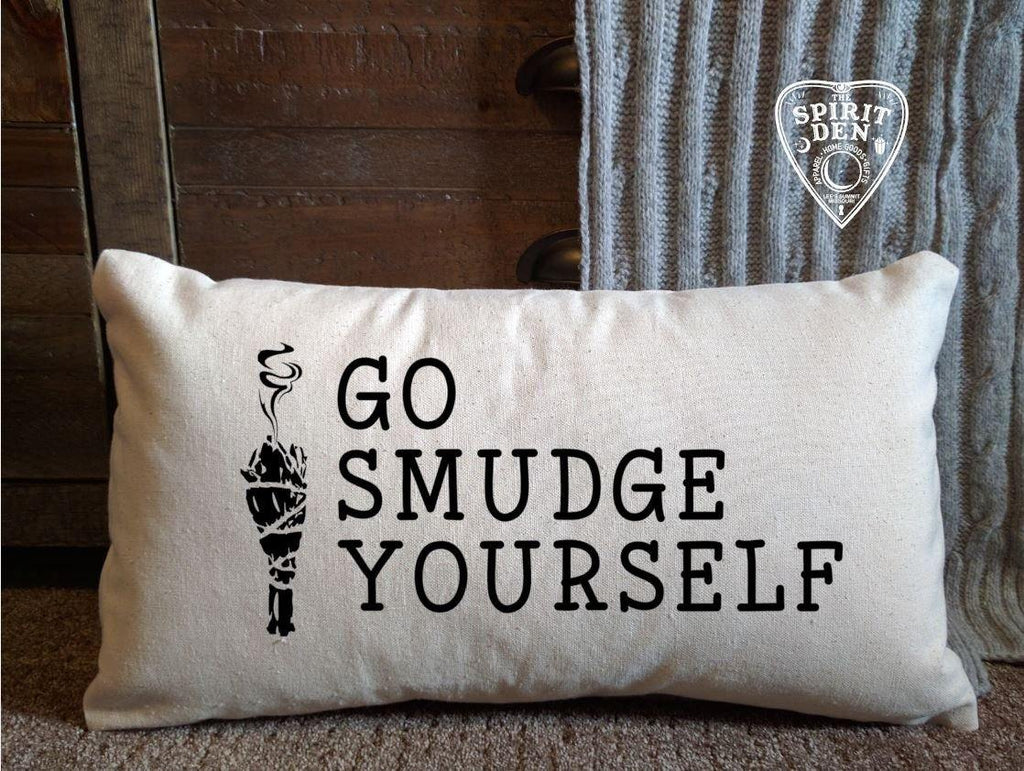 Go Smudge Yourself Sage Canvas Lumbar Pillow
