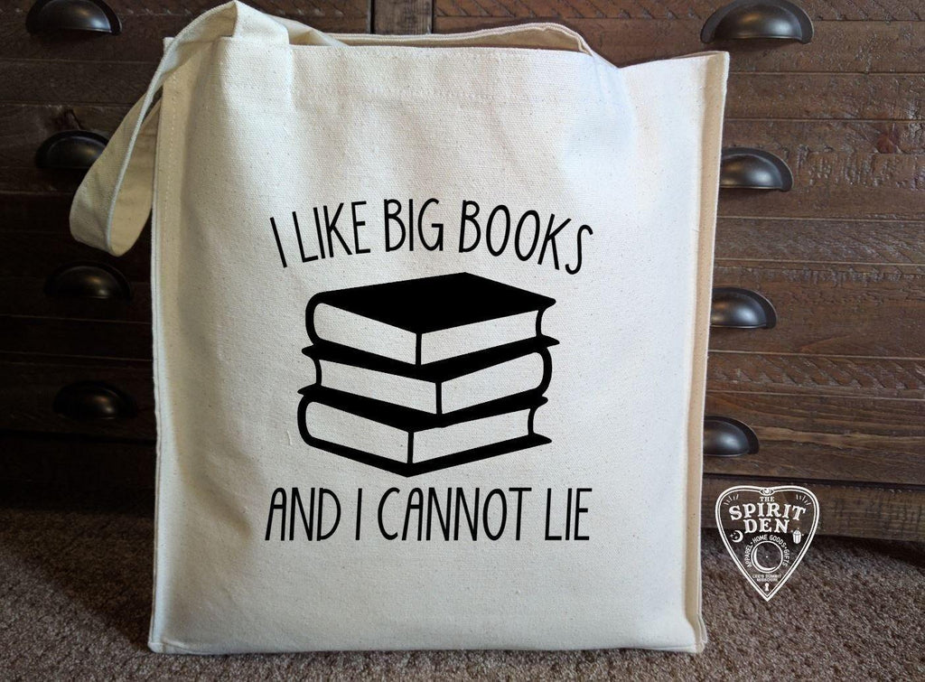 I Like Big Books and I Cannot Lie Cotton Canvas Book Bag