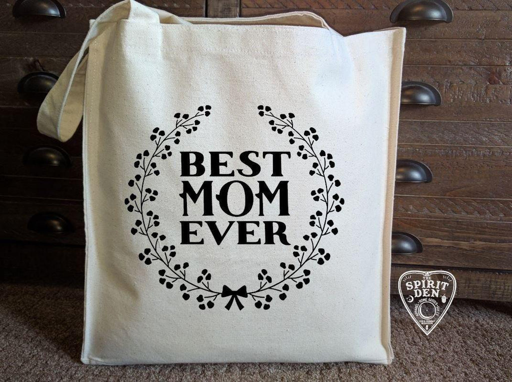 Best Mom Ever Cotton Canvas Market Tote