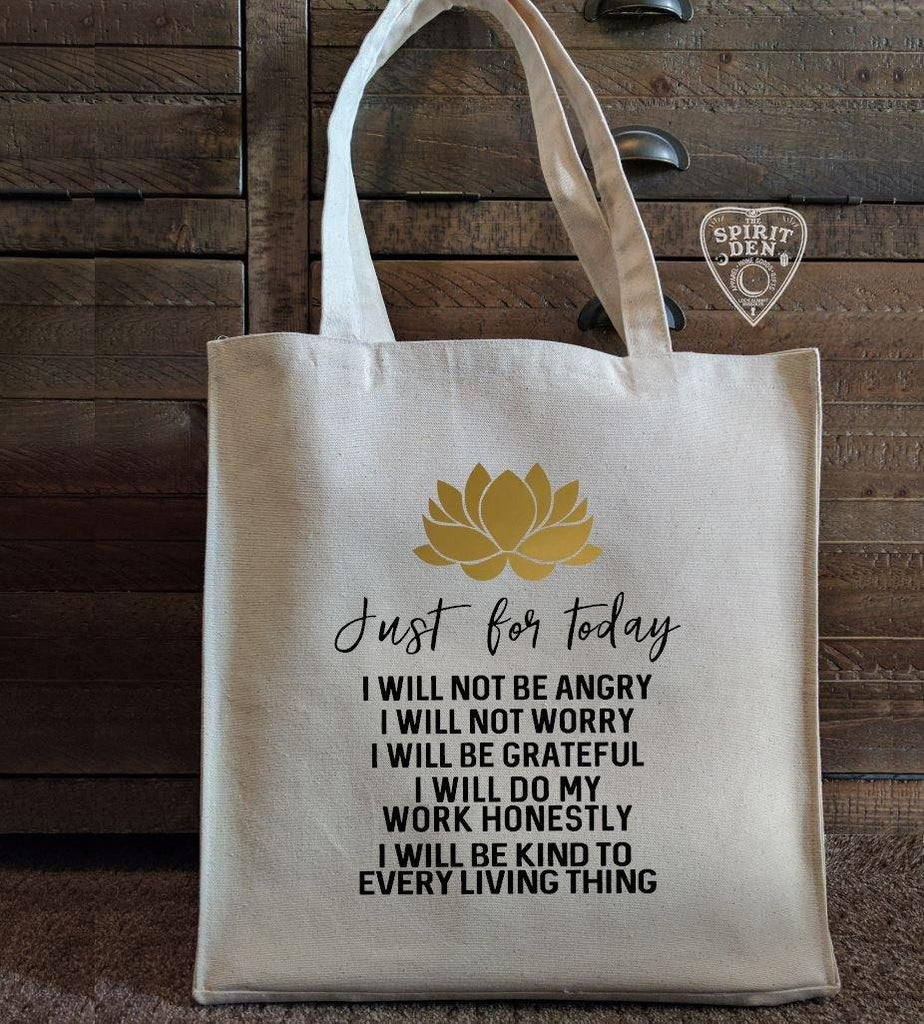 Reiki Principles Cotton Canvas Market Bag - The Spirit Den