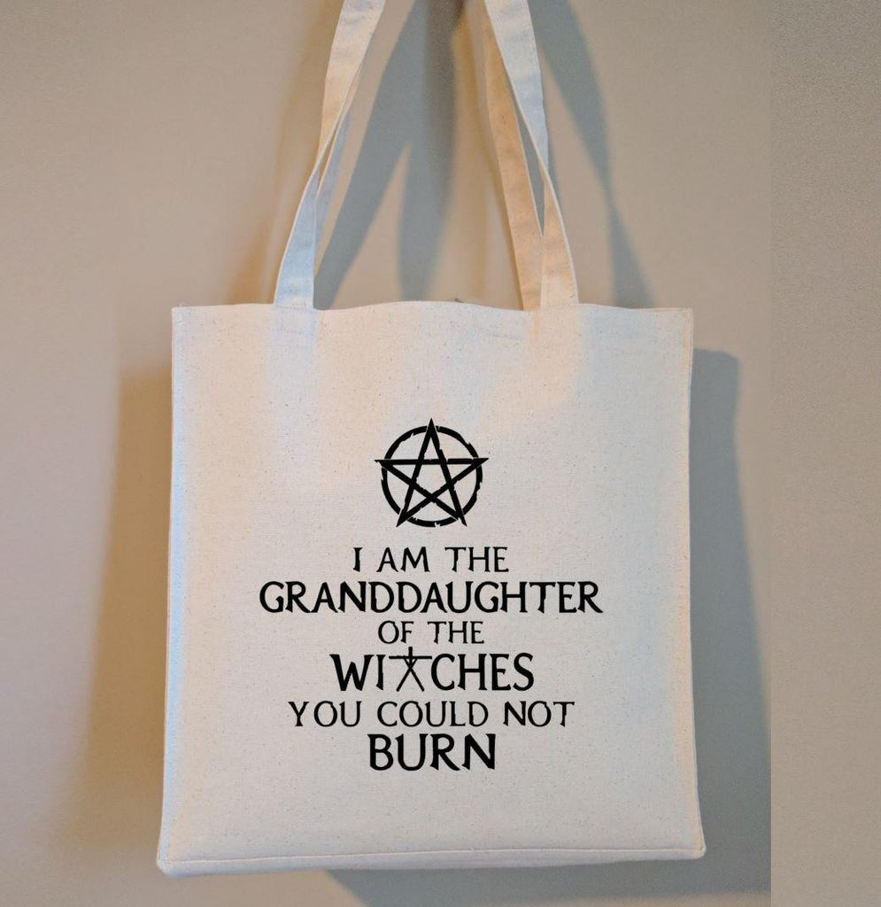 I Am The Granddaughter of the Witches You Could Not Burn Canvas Market Tote Bag