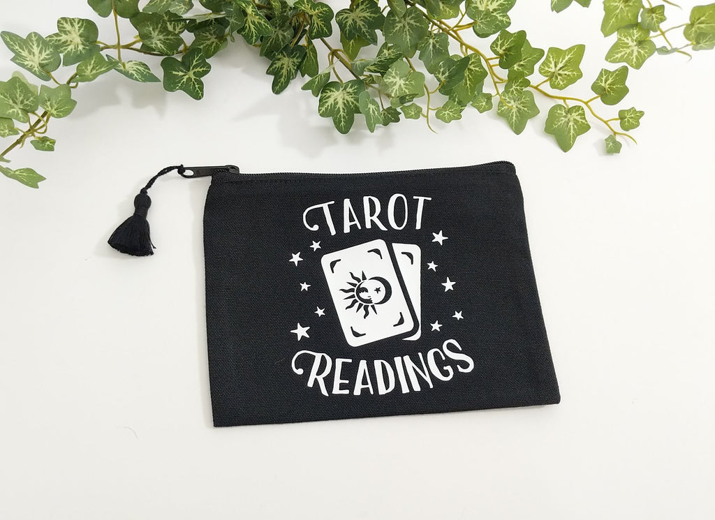 Tarot Readings Tarot Cards Black Zipper Bag