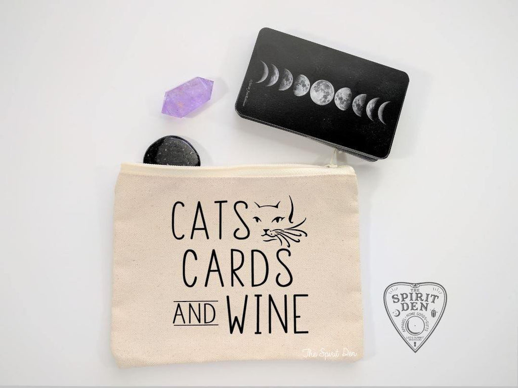 Cats Cards And Wine Canvas Zipper Bag
