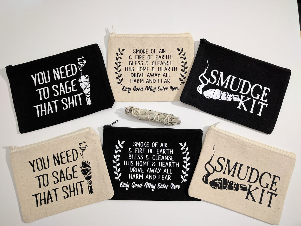 You Need To Sage That Shit Canvas Zipper Bag