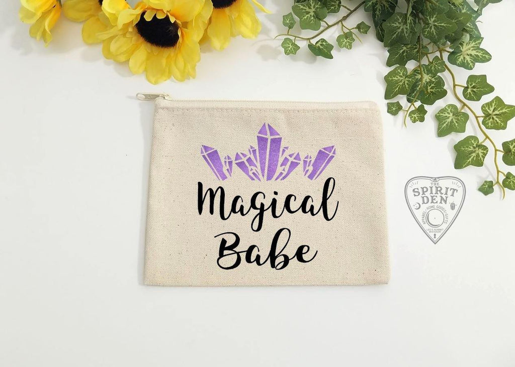 Magical Babe Canvas Zipper Bag