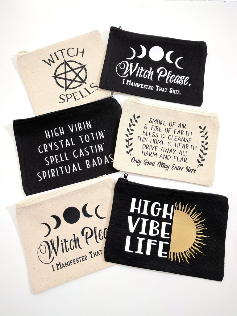 Witch Spells Canvas Zipper Bag