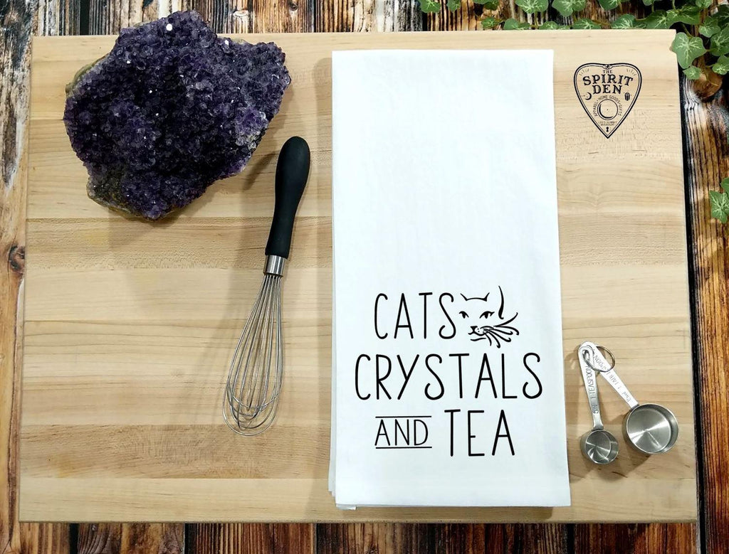 Cats Crystals and Tea Flour Sack Towel