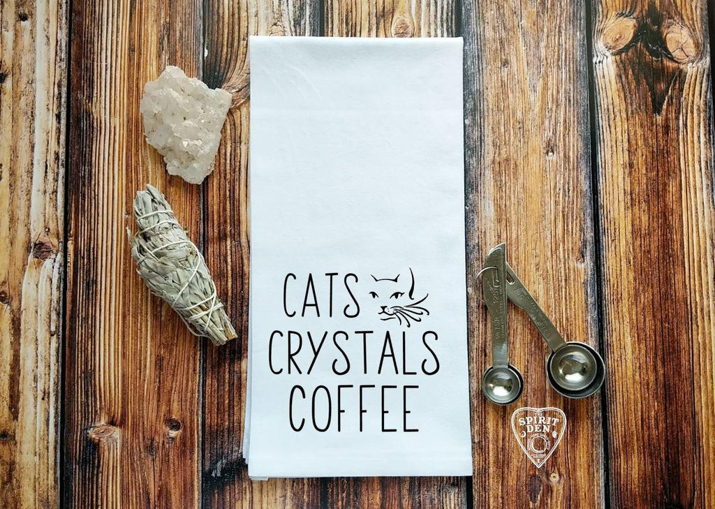 Cats Crystals Coffee Flour Sack Towel